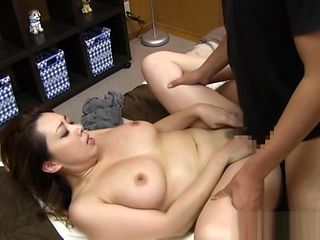 Mature Asian chick gets big tits fucked and position 69