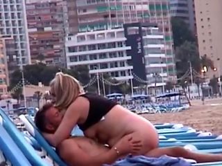 Caught fucking on a Spanish beach