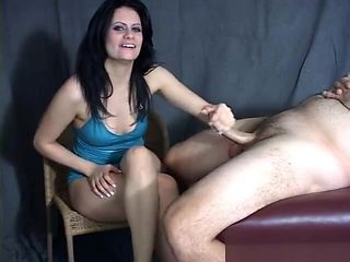 femdom crossed legs handjob