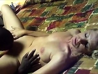 Blonde milf has a black stud licking and banging her pussy