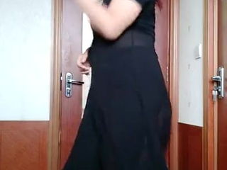 Mature woman dancing