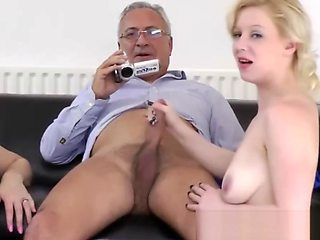 Young brit babes pussydrilled by old sir