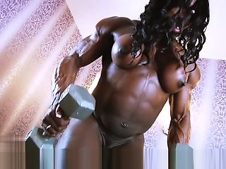 musc babe w huge nipples