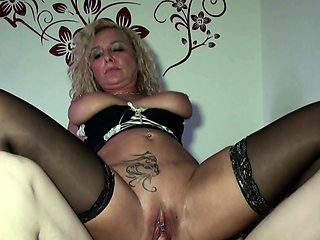 Monster Cock Son Suprise German Stepmom naked and get Fuck