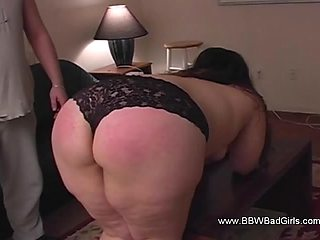 A Chubby Woman Punishment Session From Her Partner