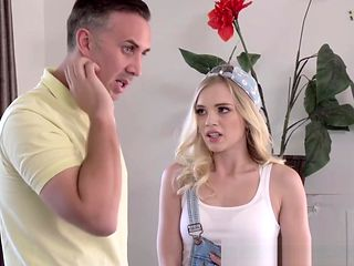 Blonde babe Alex Gray deepthroats massive schlong like a pro