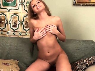 Lovable sweetie stretches narrow vagina and gets deflorated