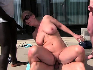 german big boobs lonley housewife mom gangbang