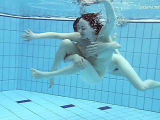 Naughty Anna Netrebko and Lada Poleshuk underwater lesbos