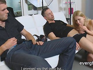 Skint guy allows unusual friend to penetrate his exgf for money