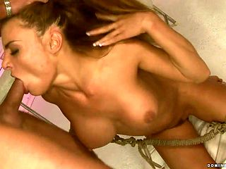 Milf gets the hole between her ass cheeks fucked by hard cock