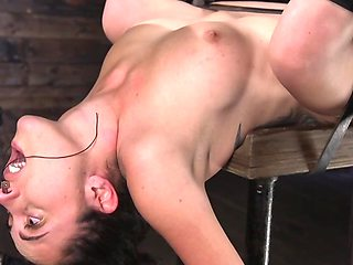 Girl entices man and gives him full control over her holes