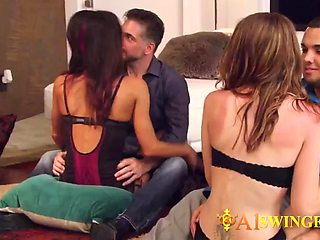 These horny swinger couples enjoy swapping and having sex with strangers