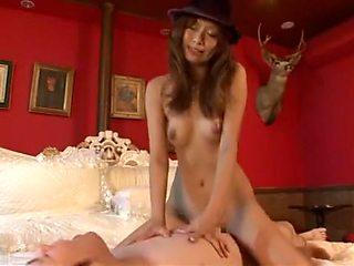 Horny Japanese chick Akina in Incredible Lingerie, POV JAV clip