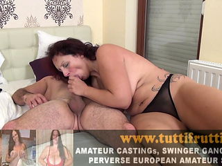 Amateur Euro mature first time