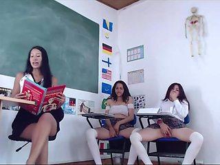 Naughty Latina Schoolgirls Showing No Panties Upskirts