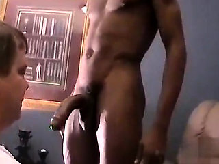 Amateur chubby gay Hung guy Randall goes first, having