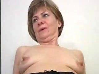 Nice Nipples on Little Titties Mature in Stockings Fucks