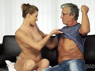 Daddy4k. guy catches girlfriend victoria daniels and dad