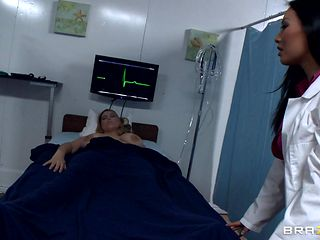 horny doctor takes advantage of her patients