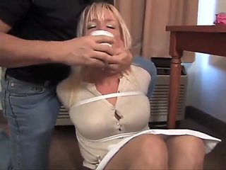 hostage tape wrapped in pantyhose