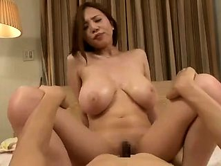 Stacked Asian beauty with a perfect ass fucks a cock in POV