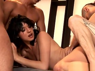 Horny Slut Gets Raw Gangbang Fuck