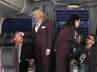 Tight holes of air hostesses filled with passengers' monsters