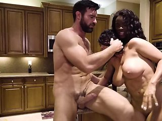 Hung man's wife and ex-wife prepare a threesome surprise