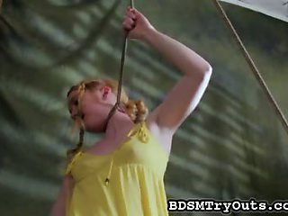 Teen in the bondage video
