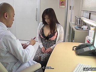 Depraved chubby Japanese lady Satomi Katayama is ready to suck several cocks