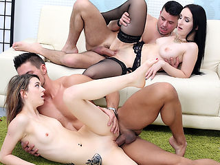 Gorgeous Housewives Di Devi n Tera Link Ride Each Others Men