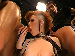 Sweet darlings captivating studs with moist blowjobs