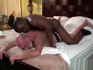 Black boy fucks his old white daddy