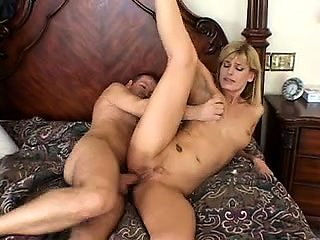 Cuckold husband watches his wife getting fucked in the ass
