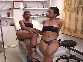 Indian and swarthy femdom nurses and white thrall