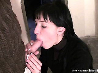 Bitch STOP - Skinny  brunette gets pussy and anal fucked