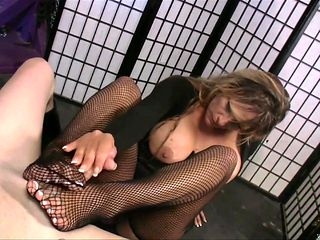 Blonde with big melons needs nothing but her man's hard fuck stick in her mouth to be happy