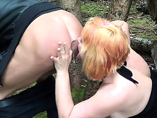 German car deepthroat outdoor sex with ugly fat housewife