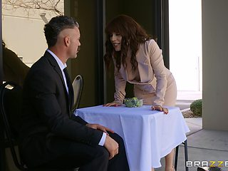Hardcore fucking on the office table between a boss and Kiara Edwards