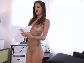 Dirty-minded Brazilian maid gets rewarded or her services