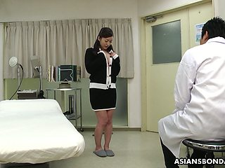 Kinky Asian doctor makes Maria Ono squirt and fills her muff with sperm