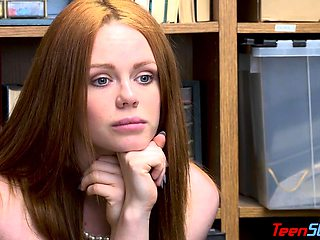 Natural redhead suspect gets her punishment from behind