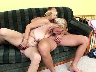 Step Son Seduce Saggy Tits Mature Mom to Fuck