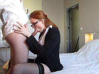 Russian Secretary Deeply Fucked while Working