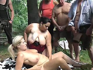 swinger fuck orgy in nature