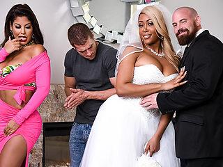 Bridgette B & Moriah Mills & Xander Corvus in Moriahs Wedding Shower - BRAZZERS