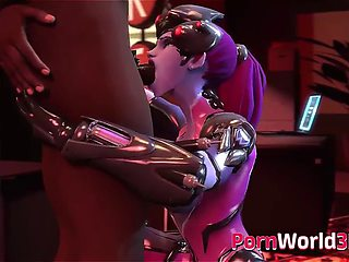 Cute widowmaker from video game overwatch animation compilation