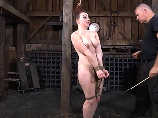 Dissolute redhead maiden is the queen of beauty