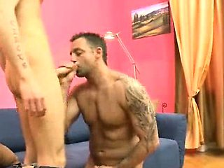 Hot gonzo scene from a horny Old+Young gay couple